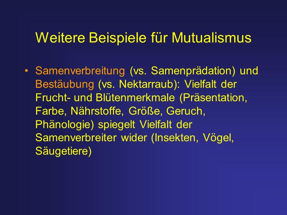 Weitere Beispiele für Mutualismus