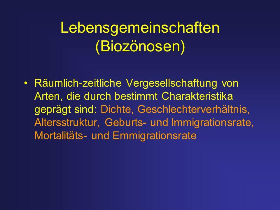 Lebensgemeinschaften (Biozönosen)