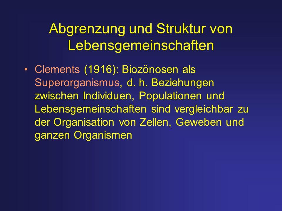 Abgrenzung und Struktur von Lebensgemeinschaften