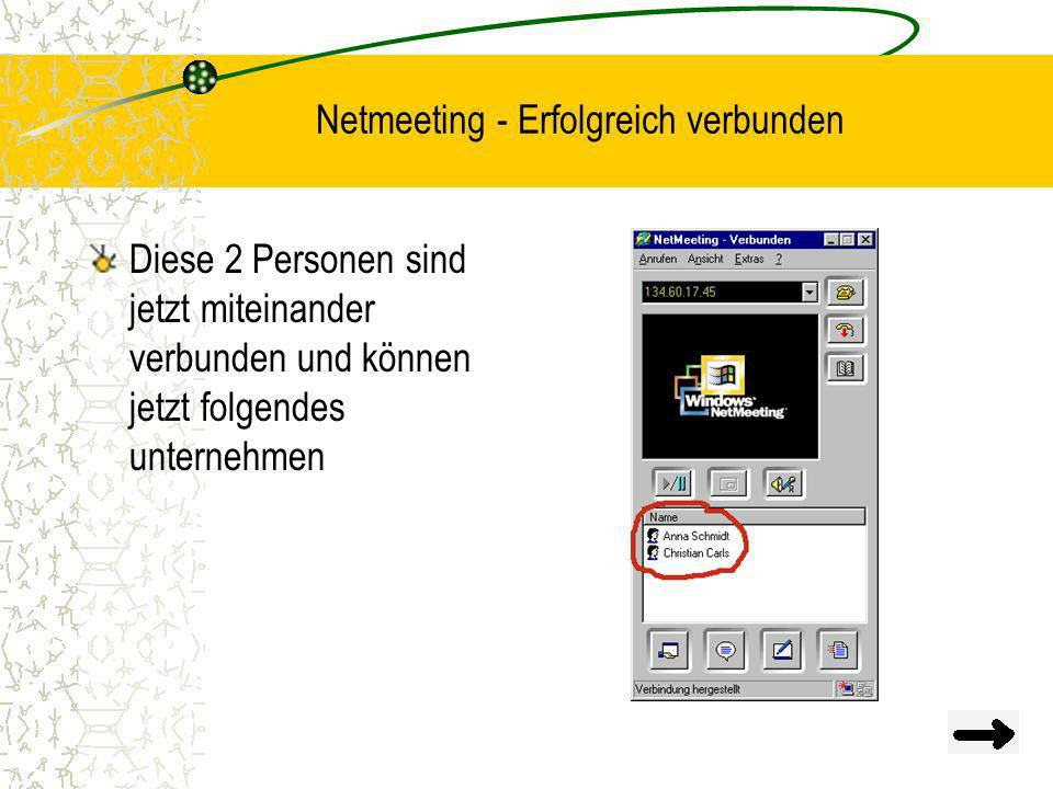 Netmeeting - Erfolgreich verbunden
