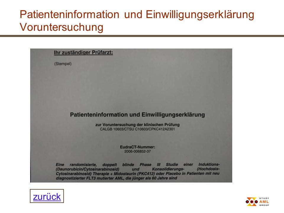Patienteninformation und Einwilligungserklärung Voruntersuchung