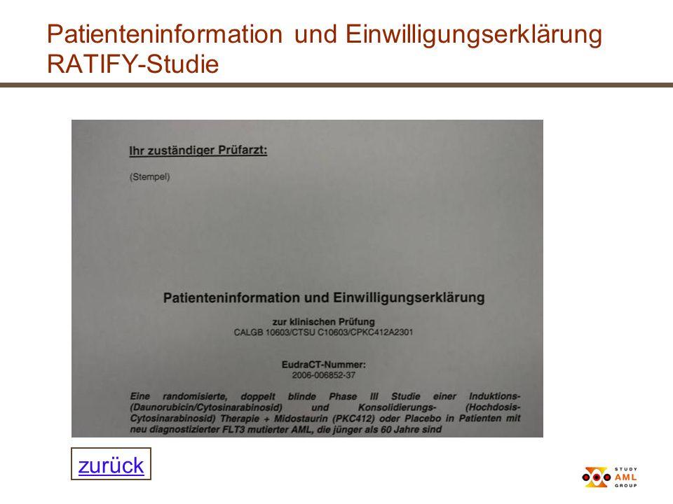 Patienteninformation und Einwilligungserklärung RATIFY-Studie