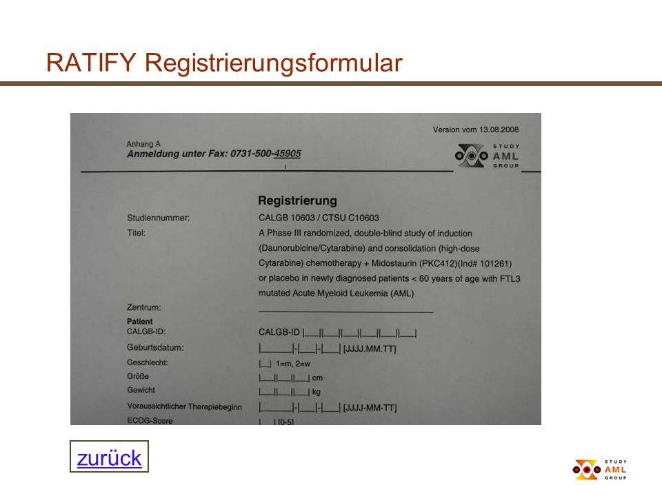 RATIFY Registrierungsformular