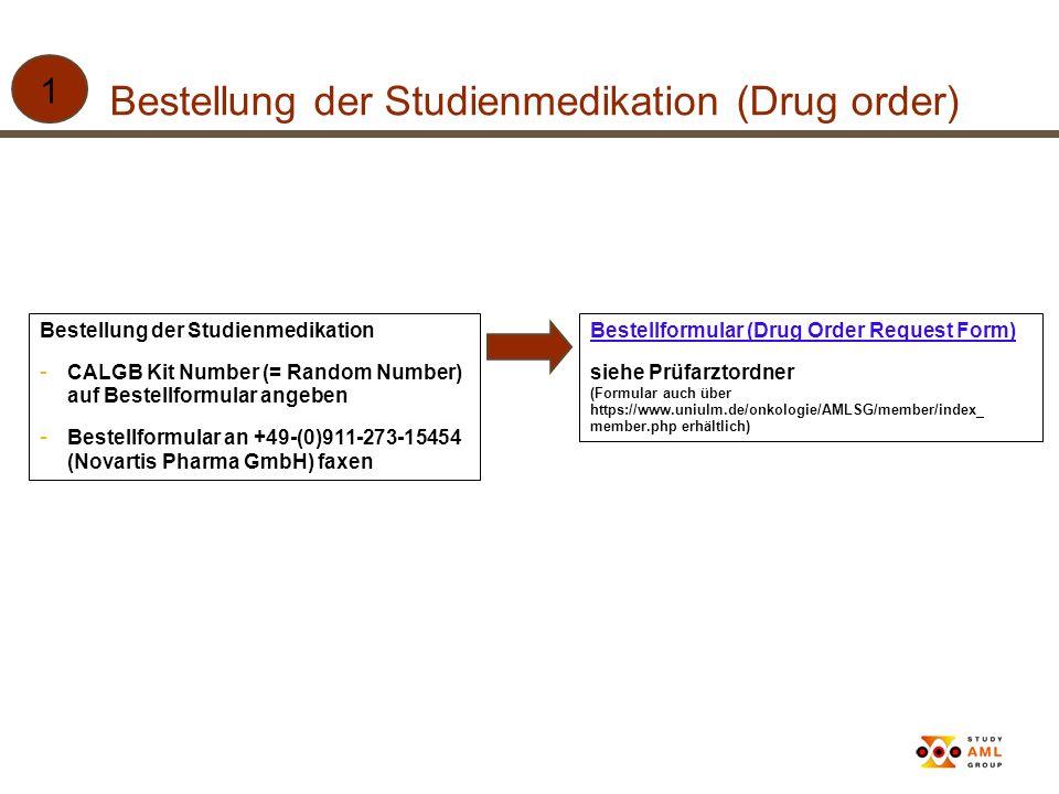 Bestellung der Studienmedikation (Drug order)