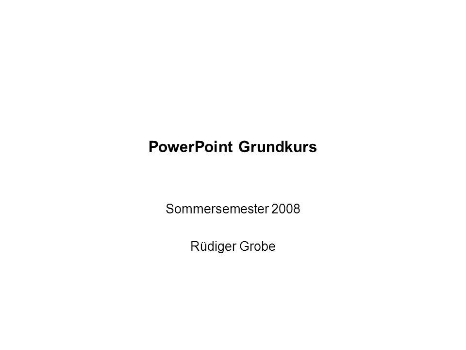 Sommersemester 2008 Rüdiger Grobe