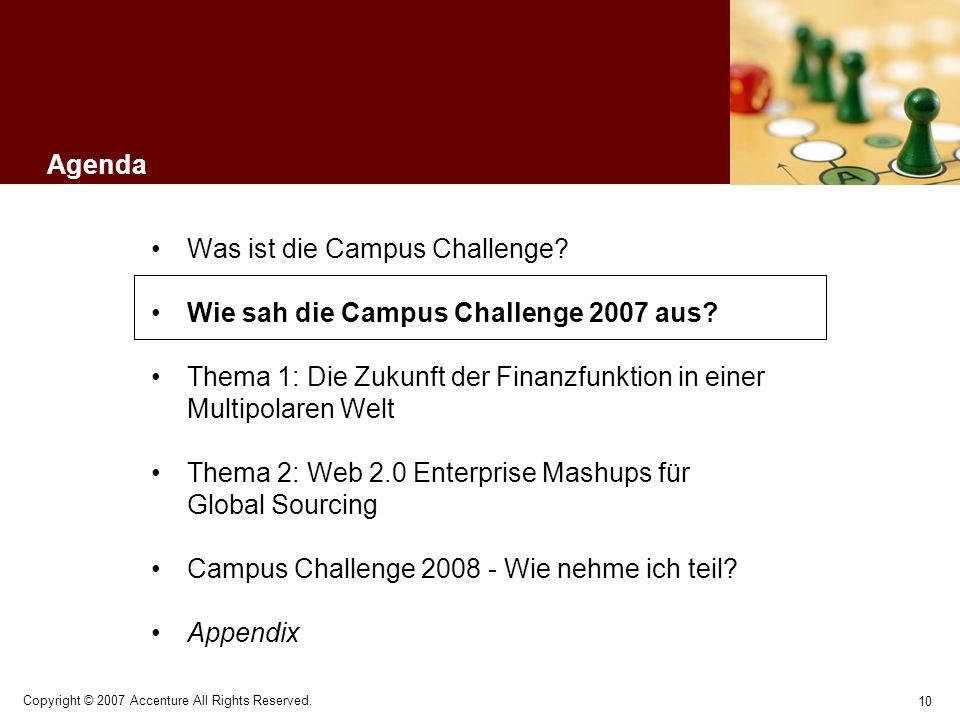 Was ist die Campus Challenge Wie sah die Campus Challenge 2007 aus