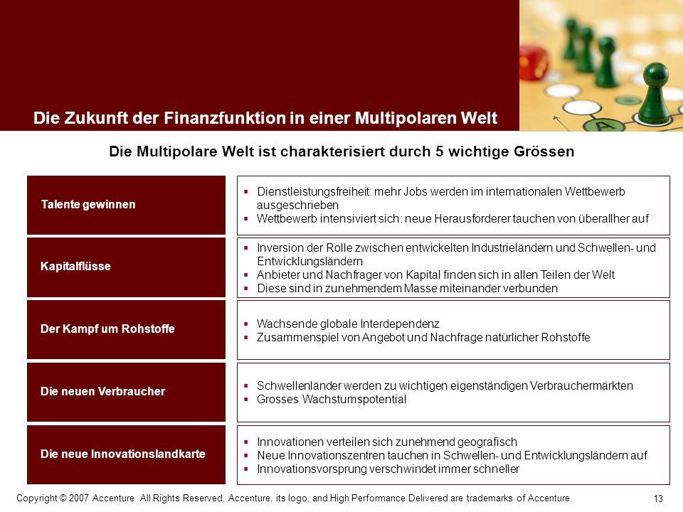 Die Zukunft der Finanzfunktion in einer Multipolaren Welt