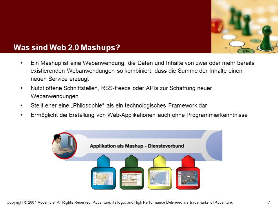 Was sind Web 2.0 Mashups