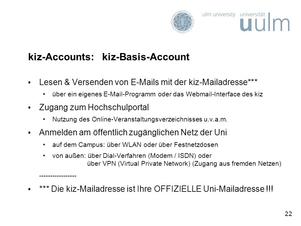 kiz-Accounts: kiz-Basis-Account
