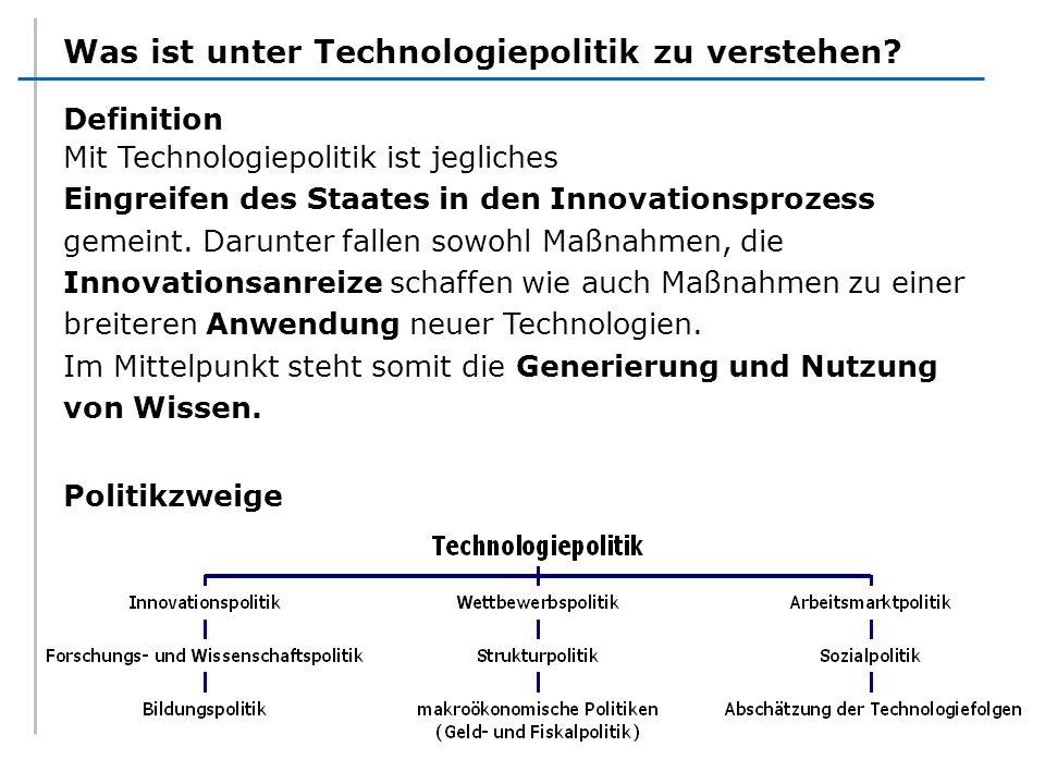 Was ist unter Technologiepolitik zu verstehen