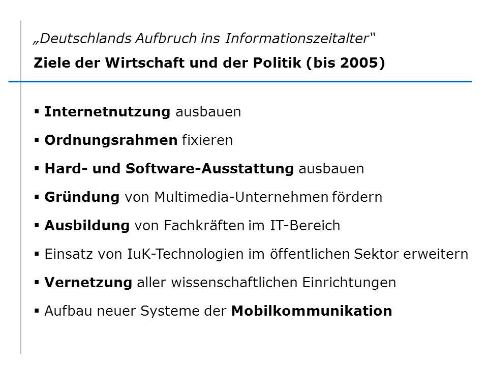 """""""Deutschlands Aufbruch ins Informationszeitalter"""