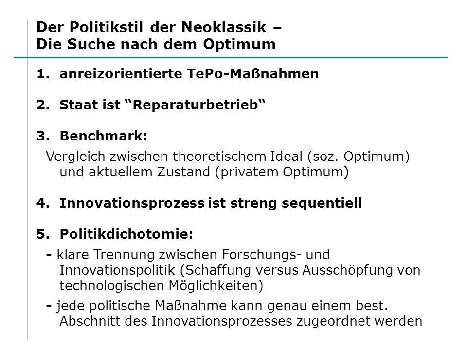 Der Politikstil der Neoklassik – Die Suche nach dem Optimum