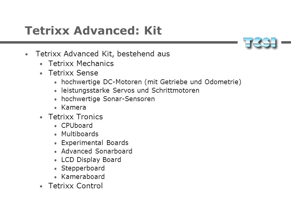 Tetrixx Advanced: Kit Tetrixx Advanced Kit, bestehend aus