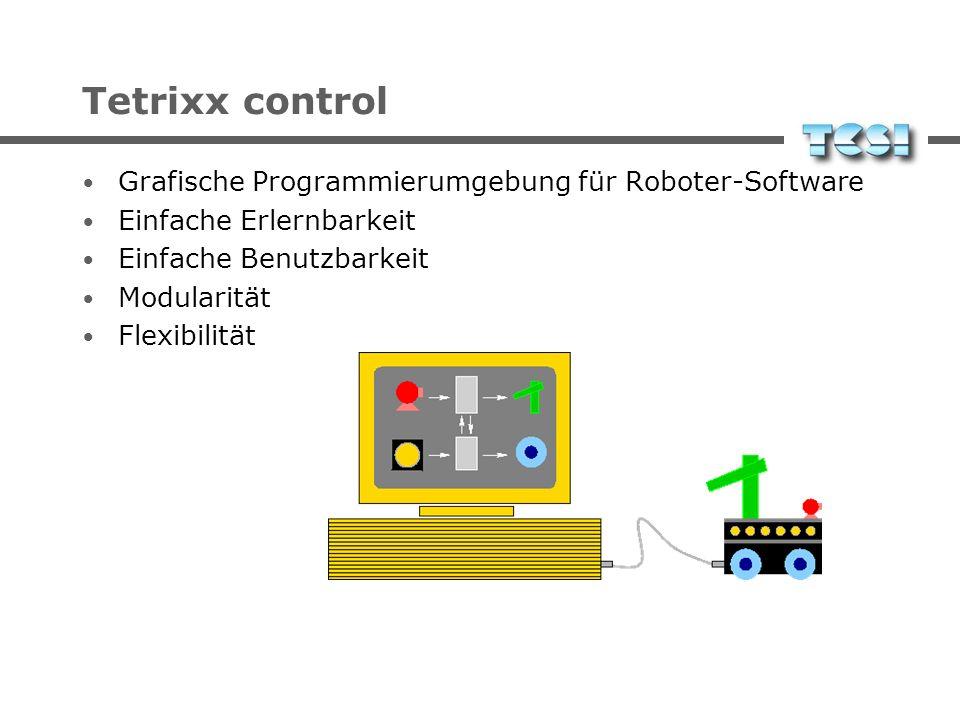 Tetrixx control Grafische Programmierumgebung für Roboter-Software