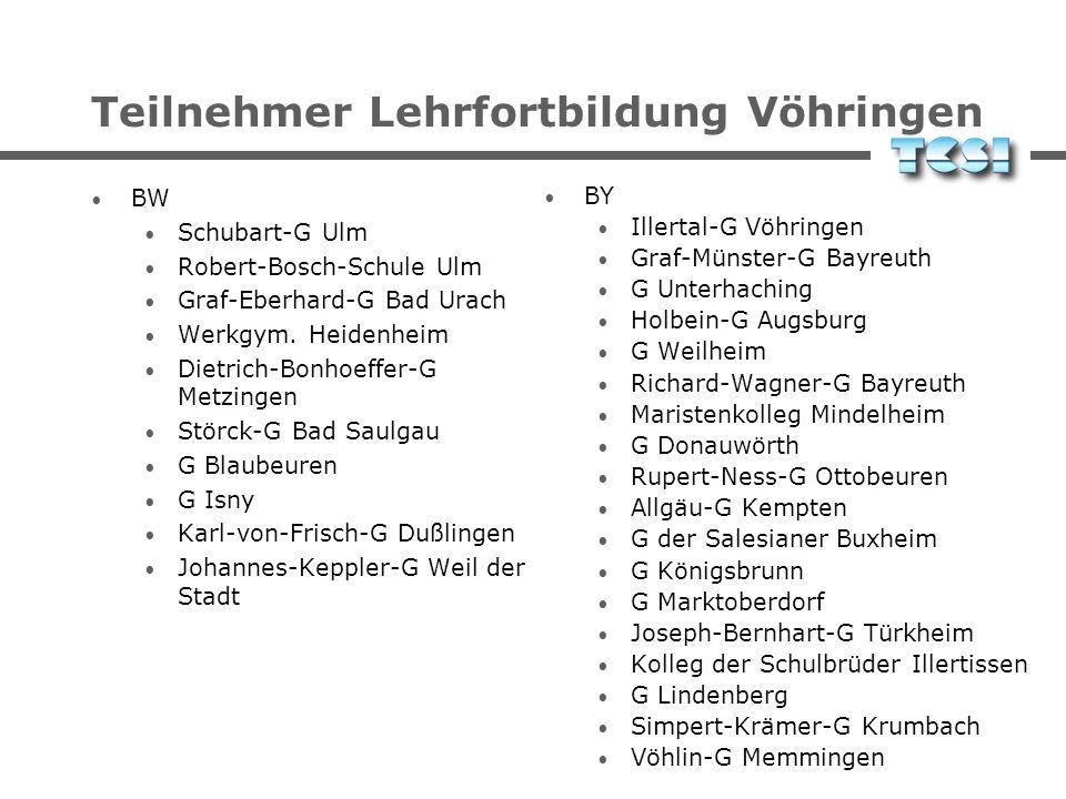 Teilnehmer Lehrfortbildung Vöhringen
