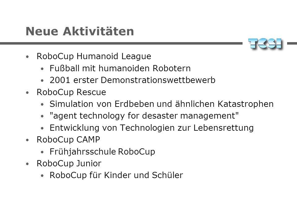 Neue Aktivitäten RoboCup Humanoid League