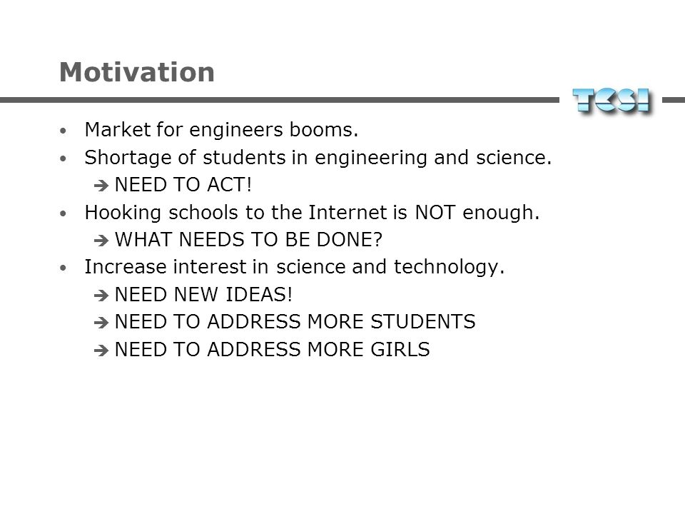 Motivation Market for engineers booms.