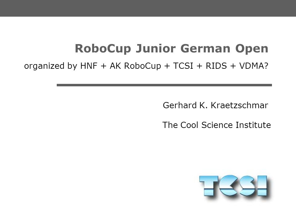 RoboCup Junior German Open