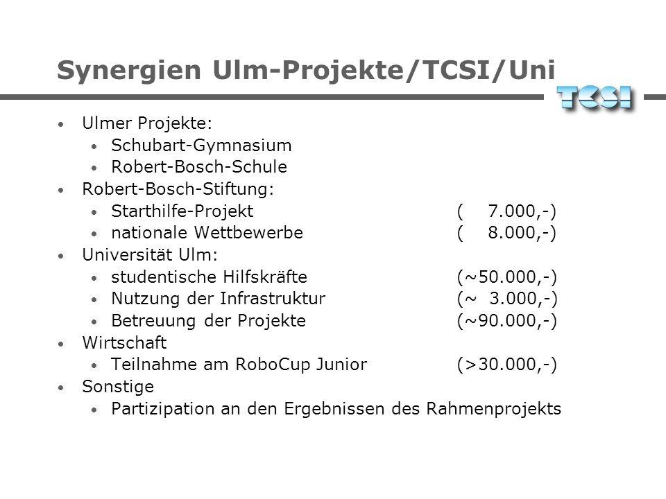 Synergien Ulm-Projekte/TCSI/Uni