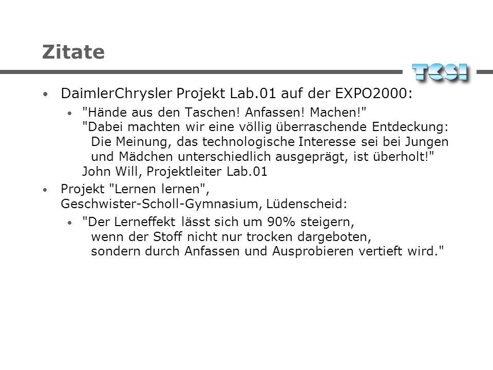 Zitate DaimlerChrysler Projekt Lab.01 auf der EXPO2000: