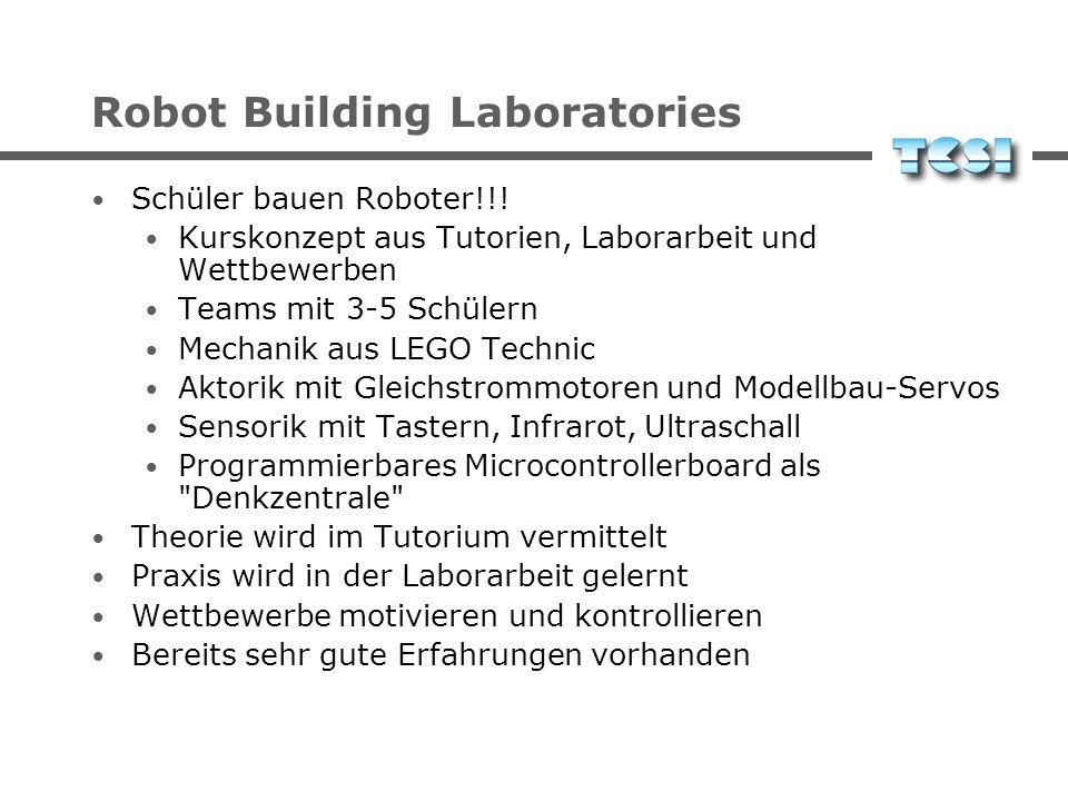 Robot Building Laboratories