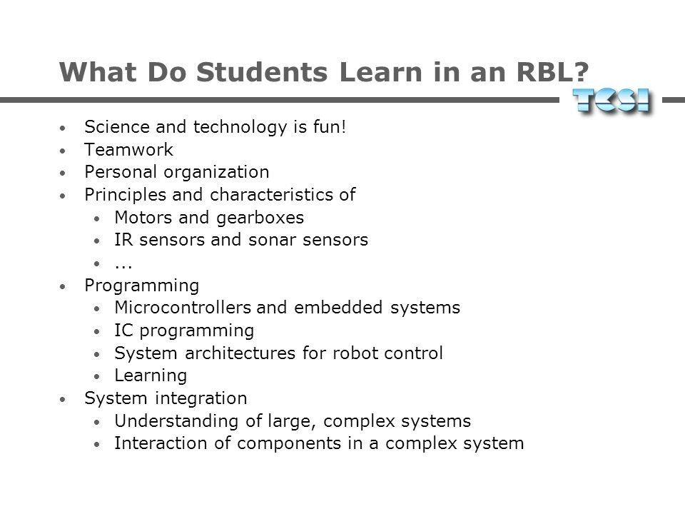 What Do Students Learn in an RBL