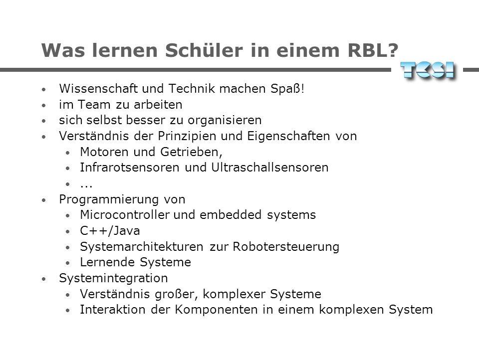 Was lernen Schüler in einem RBL