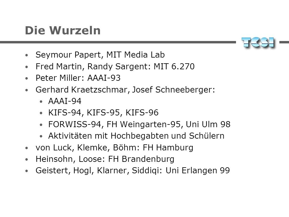 Die Wurzeln Seymour Papert, MIT Media Lab