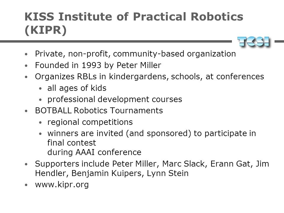 KISS Institute of Practical Robotics (KIPR)