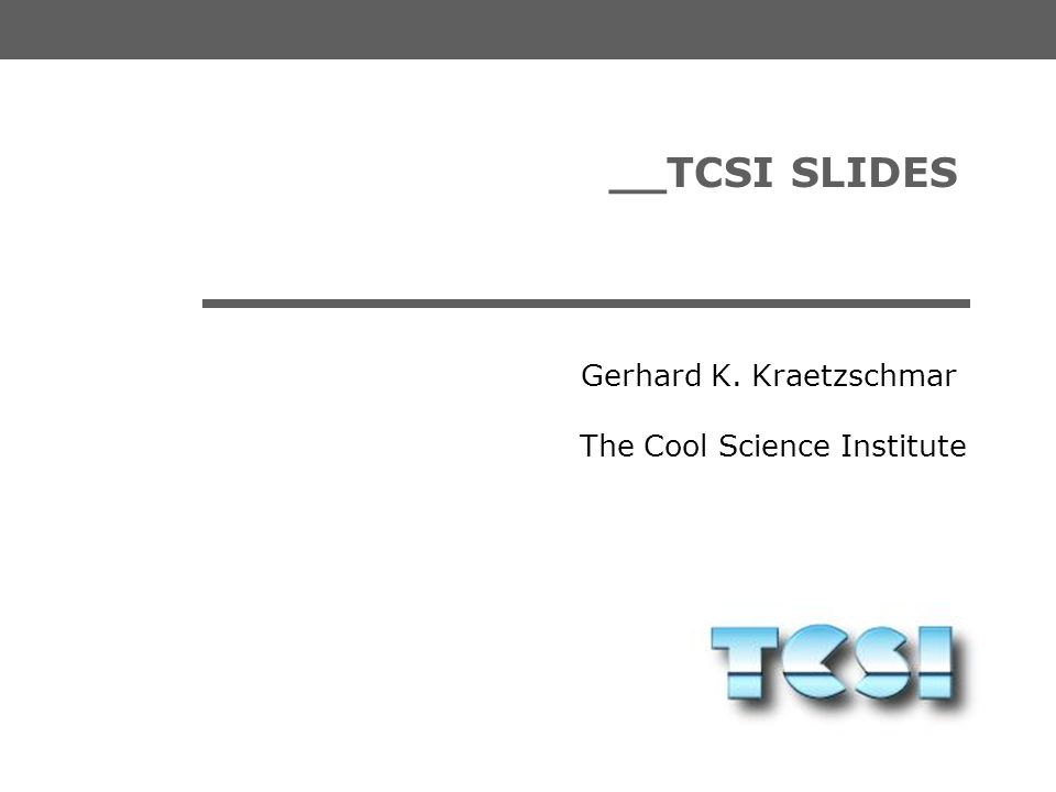 __TCSI SLIDES