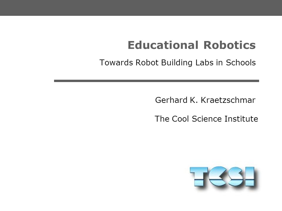 Towards Robot Building Labs in Schools