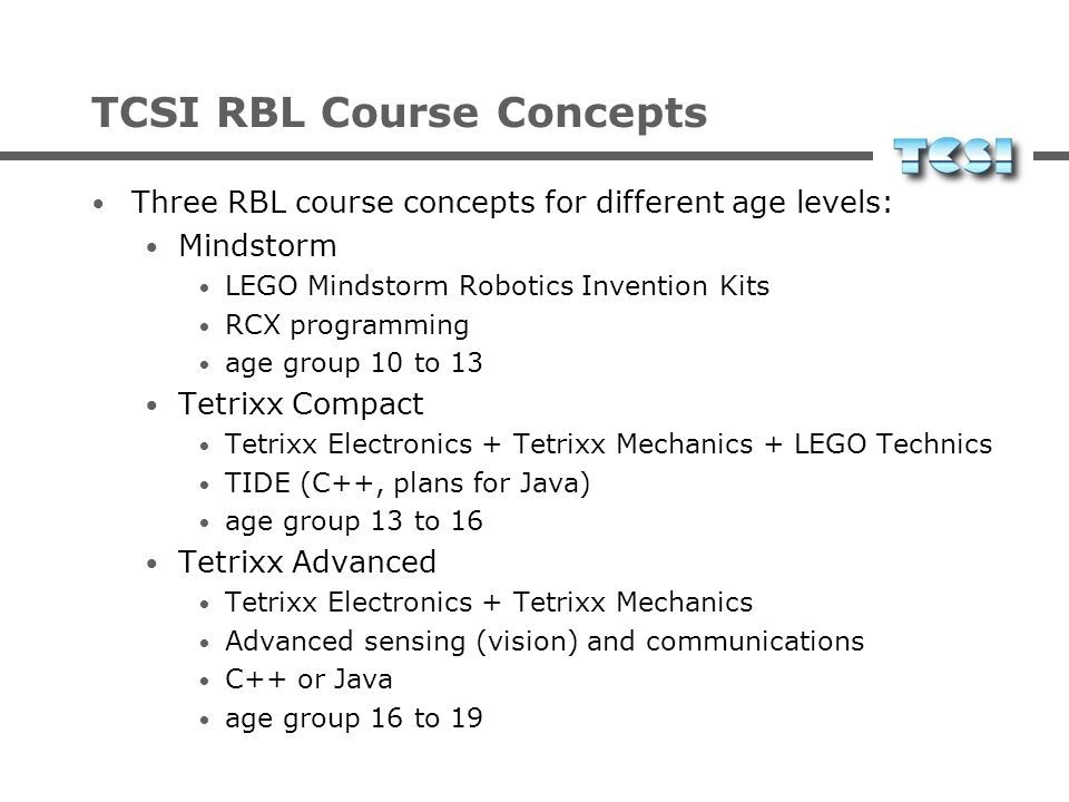 TCSI RBL Course Concepts