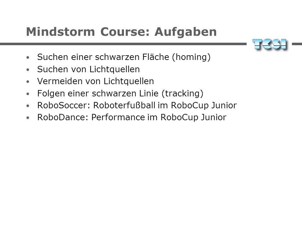 Mindstorm Course: Aufgaben