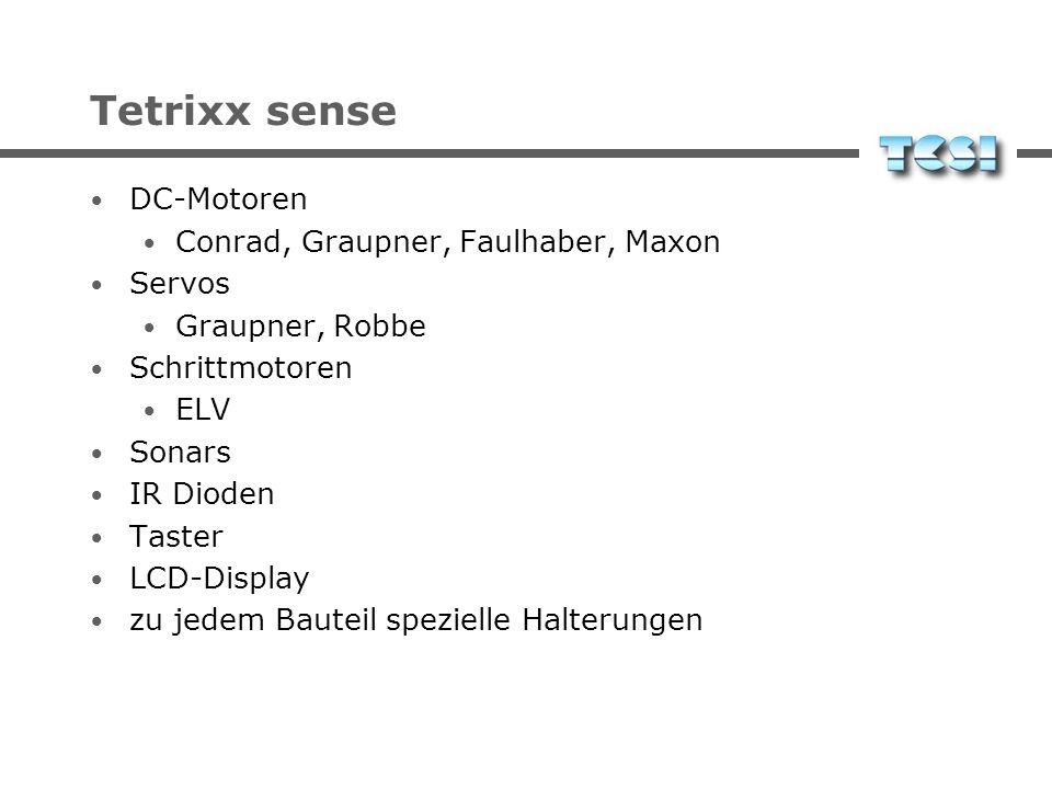 Tetrixx sense DC-Motoren Conrad, Graupner, Faulhaber, Maxon Servos