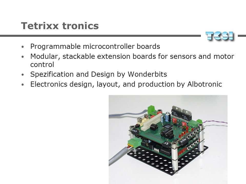 Tetrixx tronics Programmable microcontroller boards