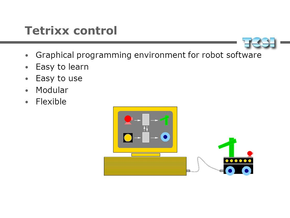 Tetrixx control Graphical programming environment for robot software
