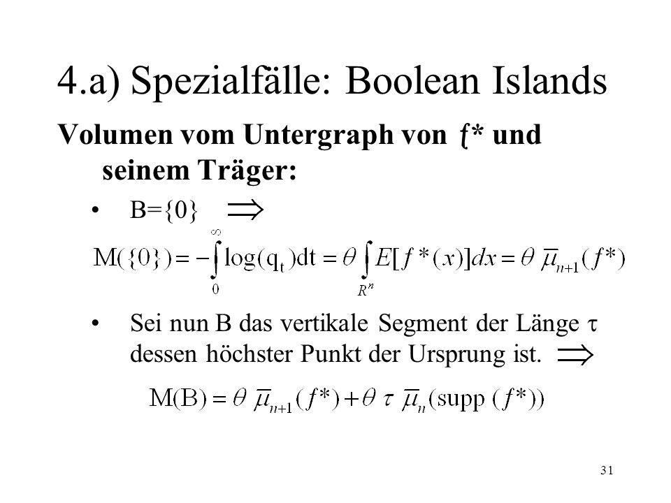 4.a) Spezialfälle: Boolean Islands