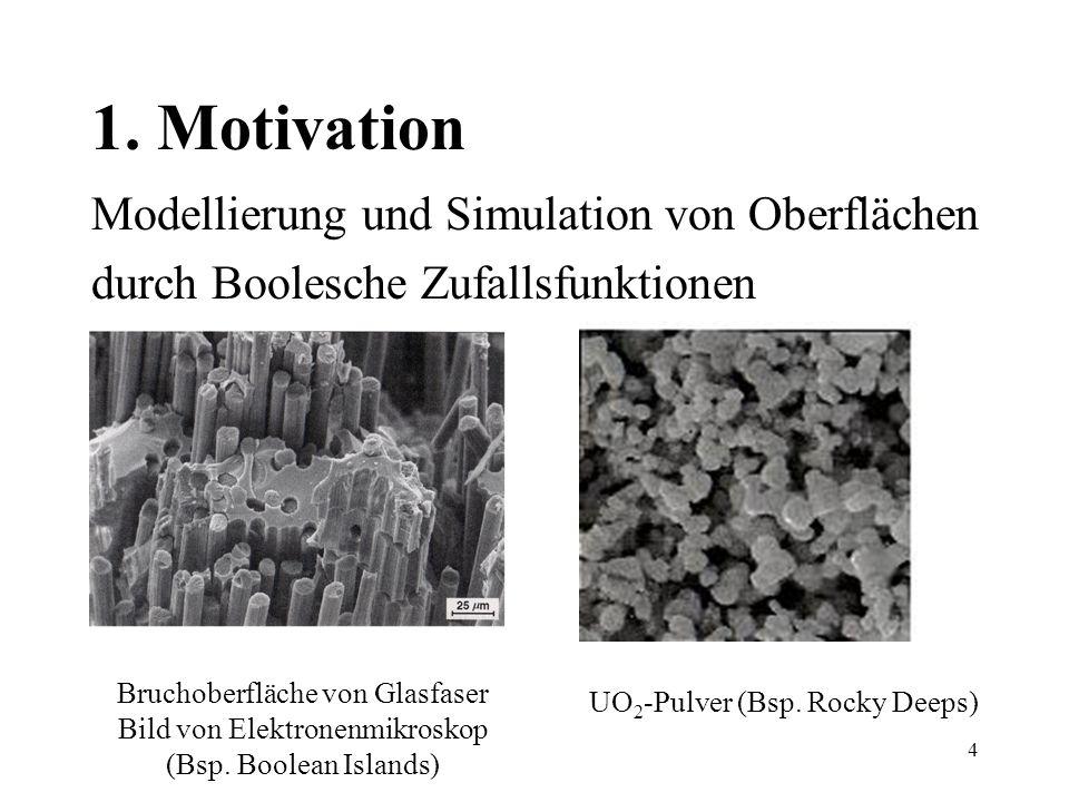 1. Motivation Modellierung und Simulation von Oberflächen