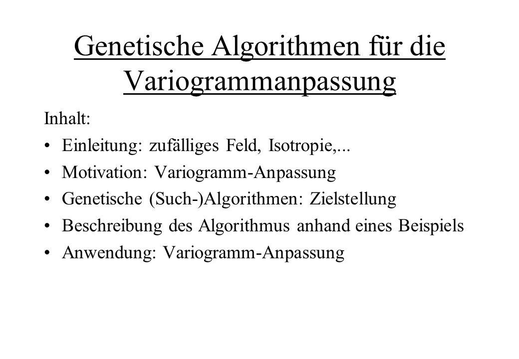 Genetische Algorithmen für die Variogrammanpassung