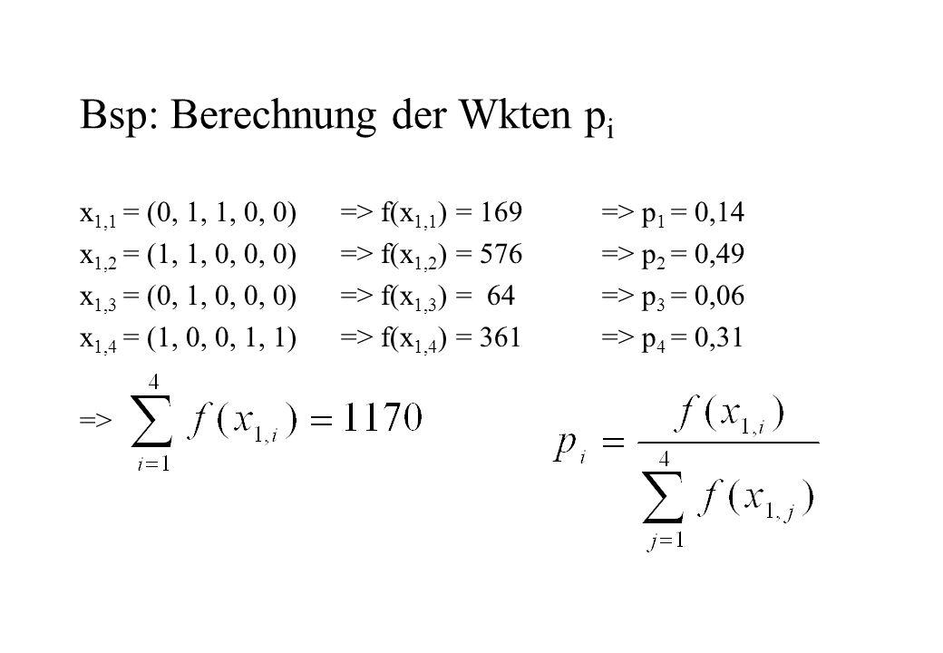 Bsp: Berechnung der Wkten pi