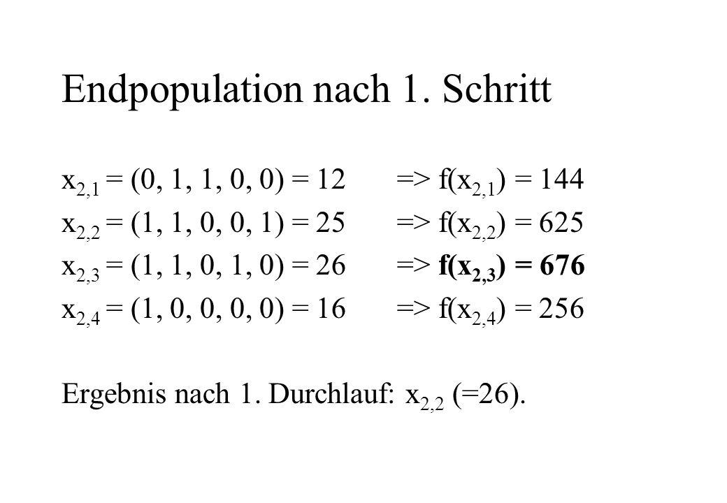 Endpopulation nach 1. Schritt