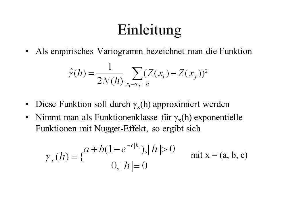 Einleitung Als empirisches Variogramm bezeichnet man die Funktion