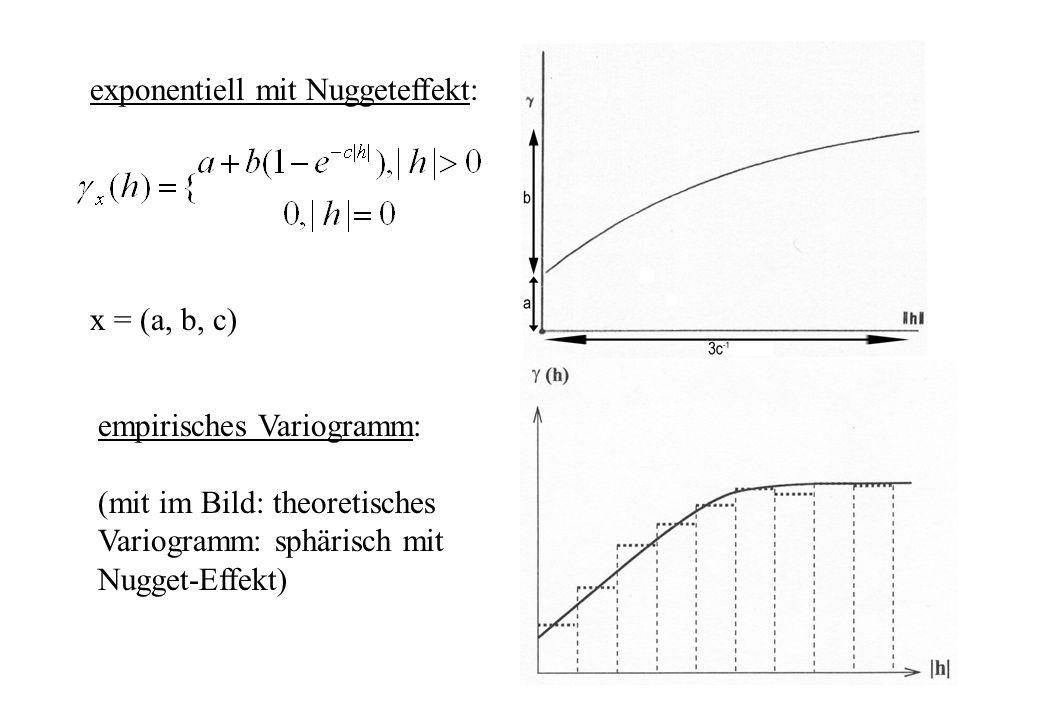 exponentiell mit Nuggeteffekt: