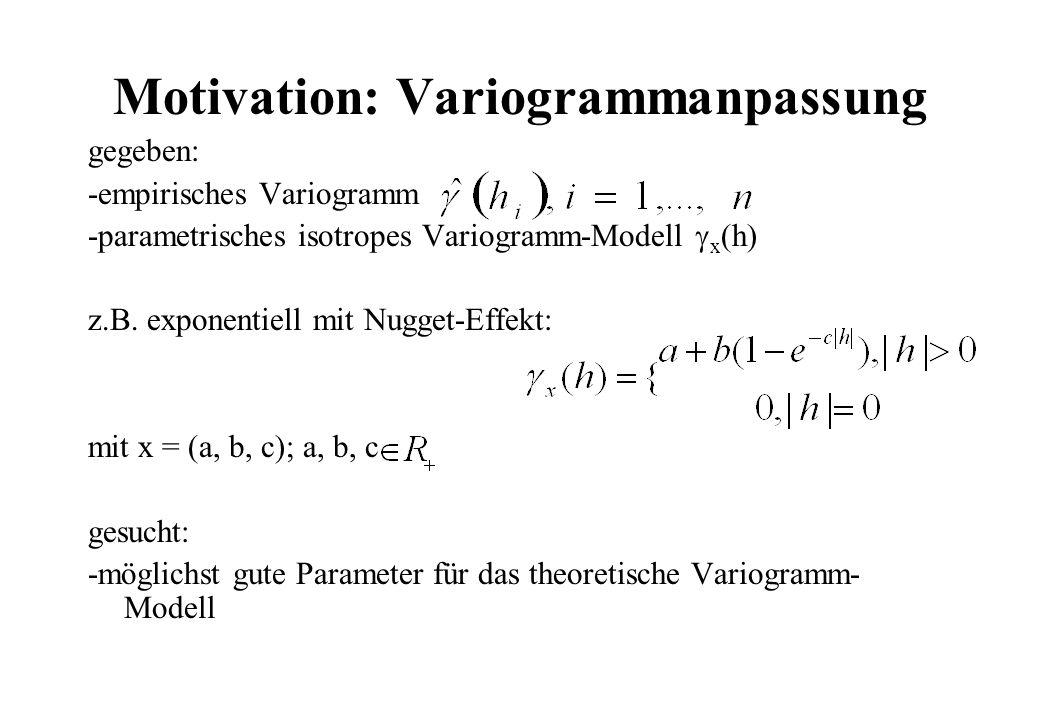 Motivation: Variogrammanpassung