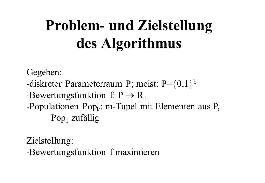 Problem- und Zielstellung des Algorithmus