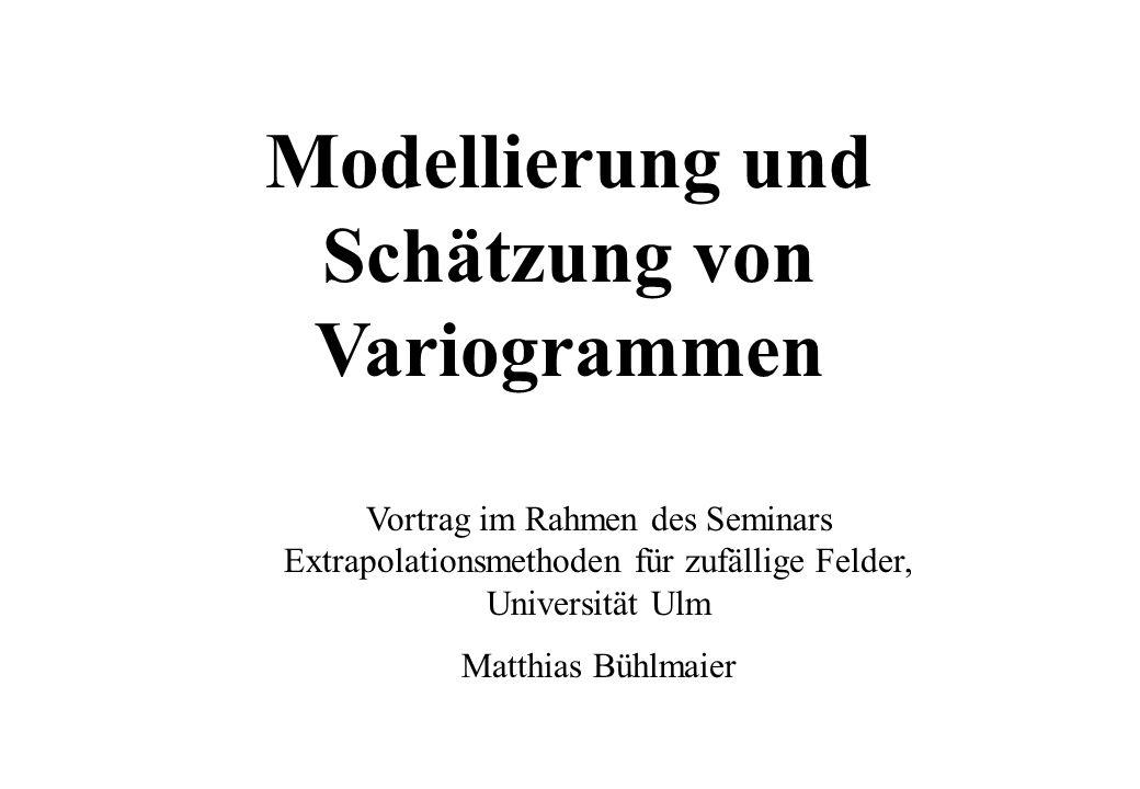 Modellierung und Schätzung von Variogrammen