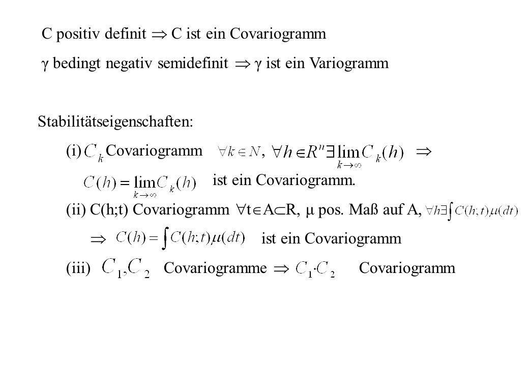 C positiv definit  C ist ein Covariogramm