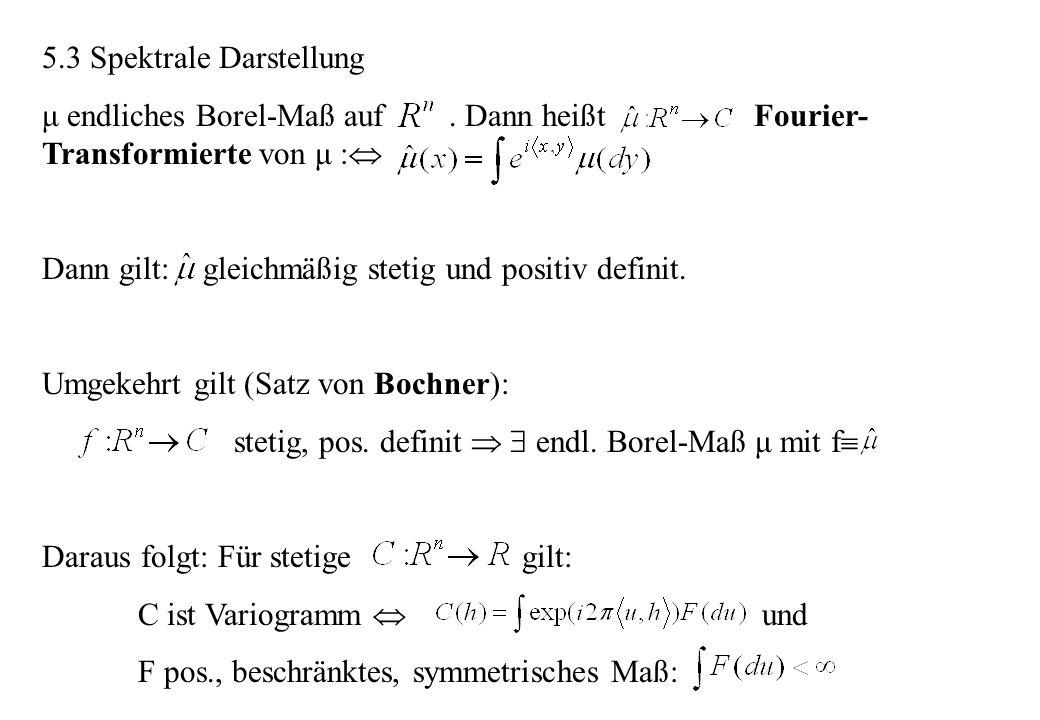 5.3 Spektrale Darstellung