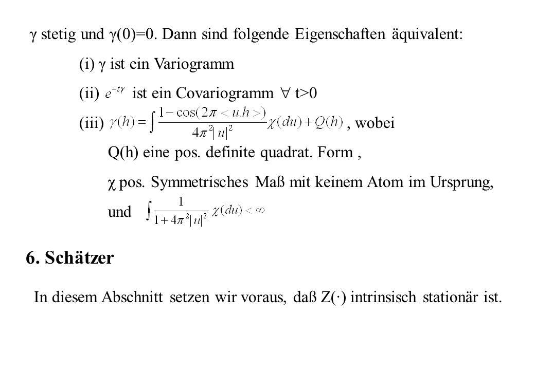 γ stetig und γ(0)=0. Dann sind folgende Eigenschaften äquivalent: