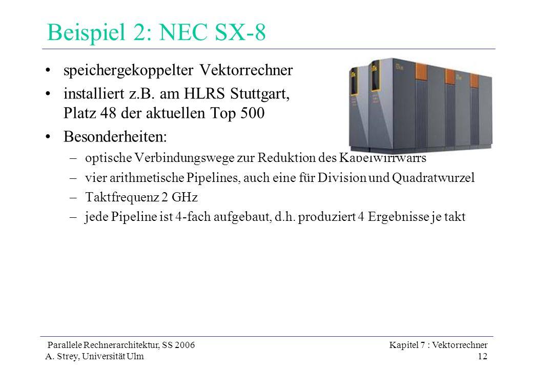 Beispiel 2: NEC SX-8 speichergekoppelter Vektorrechner